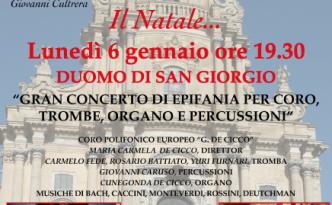 Locandina Gran Concerto di Epifania a Ragusa Ibla