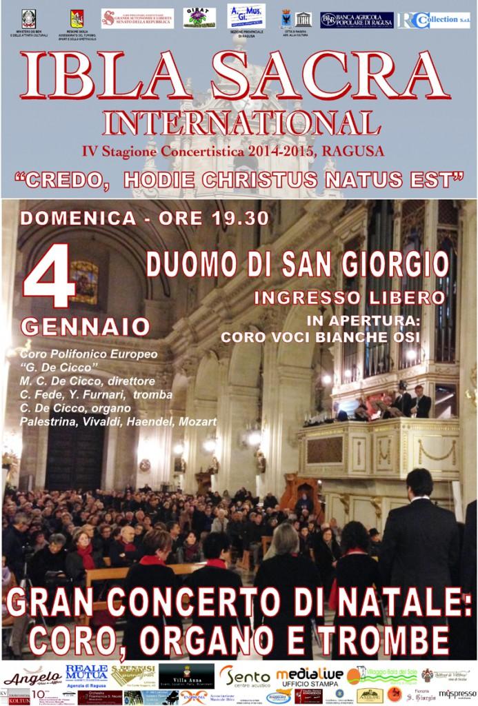Concerto 4 gennaio 2015 a Ragusa