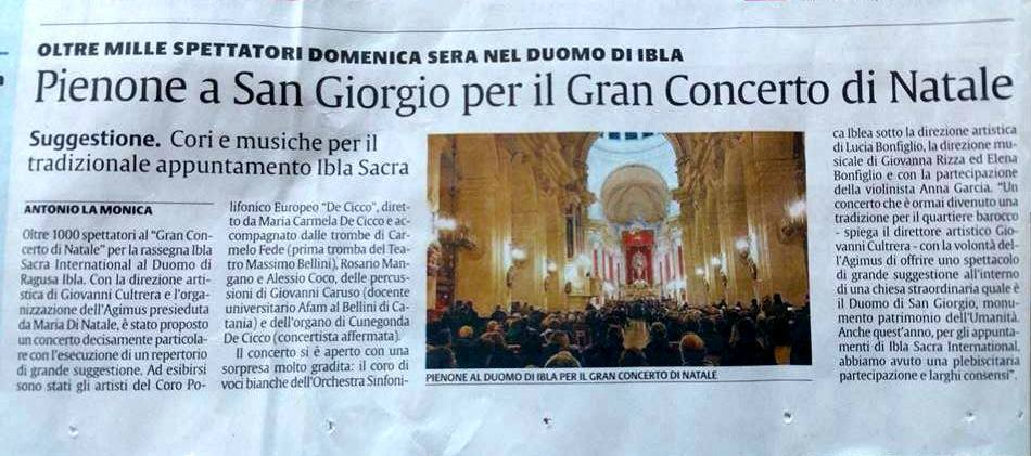 Articolo giornale gran concerto di natale 4 gen 2015
