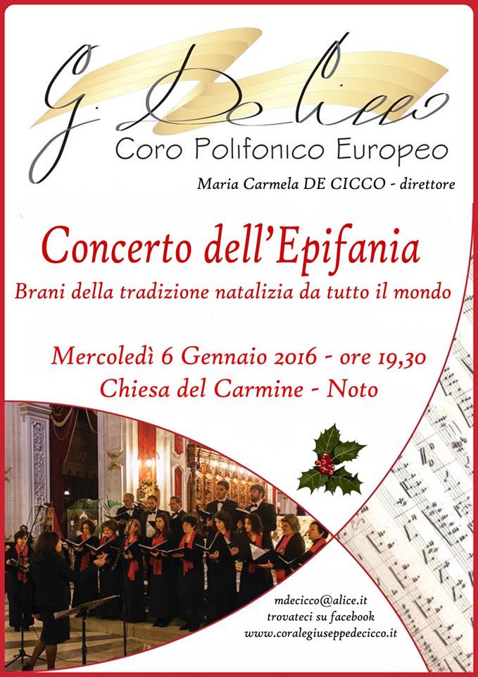 Concerto Epifania 2016 Noto